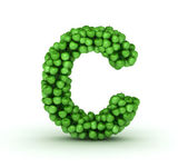 Letter C, alphabet of green apples — Stock Photo