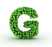 Letter G, alphabet of green apples — Stock Photo