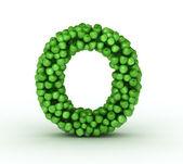 Letter O, alphabet of green apples — Stock Photo