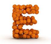 Letter E, basketball alphabet — Stock Photo
