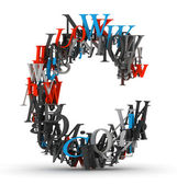 Písmeno c, abeceda z dopisů — Stock fotografie