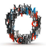 Letter O, alphabet from letters — Stock Photo