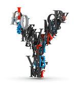 字母 y,从字母的字母表 — 图库照片