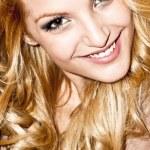 Potrait beautiful blonde young — Stock Photo