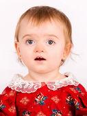 Primer plano jugando lindo bebé — Foto de Stock