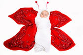 Little cute baby. The Butterfly — Stock Photo