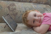 Child rests — Stock Photo
