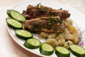 Fried pork ribs — Stock Photo