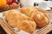 Fresh buttery croissants — Stock Photo