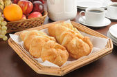 Continental breakfast buffet — Stock Photo