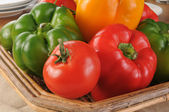 Basket of colorful vegetables — Stock Photo