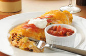 Chicken burrito — Stock Photo