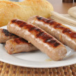 Plate of grilled brats — Stock Photo #9290594