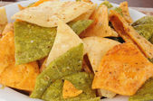 Fried vegetable tortilla chips — Stock Photo