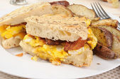 Breakfast Panini — Stock Photo