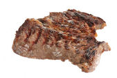 Grilled chuck roast on white — Stock Photo