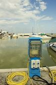 Filling station for boats — Stock Photo