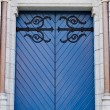 Blue door of a church — Stock Photo