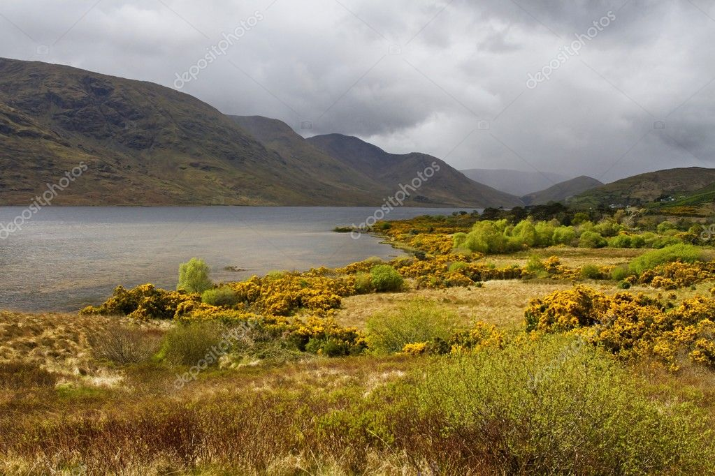Inagh Valley in spring, Connemara, Ireland — Stock Photo #10646623