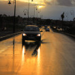 Stock Photo: Sunset on the road