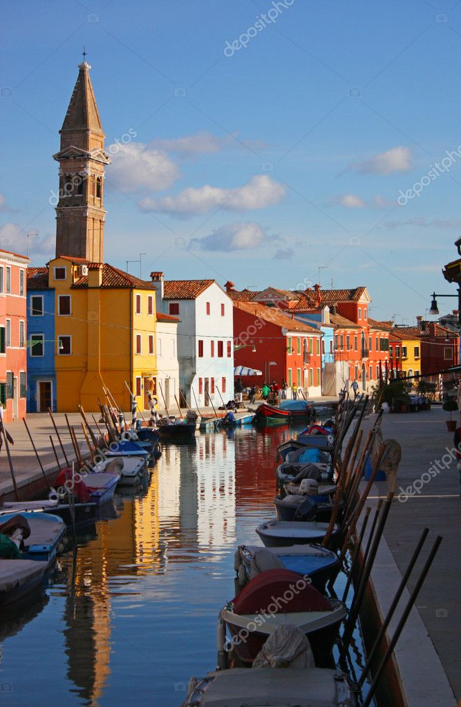 The colors of Burano, Venice  Stock Photo #9265648