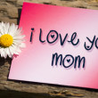 I love you mom - Stock Photo