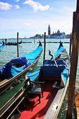 Gondolas in Venice — Stockfoto