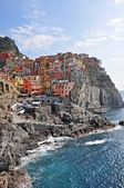 The village of Manarola at sunset. Cinque Terre — Stock Photo