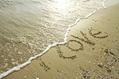 Written on the beach — Stock Photo