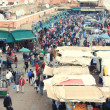 Jemaa El Fna square in Marrakech, Morocco - Stockfoto