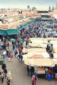 Jemaa el fna Meydanı Marakeş, Fas — Stok fotoğraf