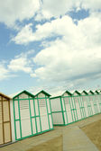 Cabins on the beach to the sea — Stock Photo