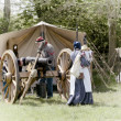 US civil war artillery camp — Stock Photo