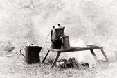 The camp stove — Stock Photo