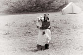 US civil war woman and child — Stock Photo