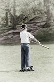 我们民间的战争棒球击球手 — 图库照片