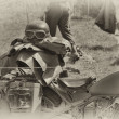 Stock Photo: WW2 GermArmy motorbike
