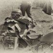 WW2 German Army motorbike — Stock Photo
