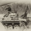 WW2 German Army soldiers and Tiger tank — Stock Photo #10496529