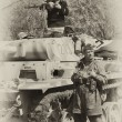WW2 German Army soldiers and Tiger tank — Stock Photo #10496570