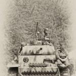 WW2 German Panzer tank — Stock Photo #10497517