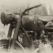 WW2 British military dispatch riders bike - Stock Photo