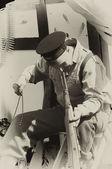 WW2 British Army tented camp — Stock Photo