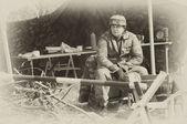 WW2 German Army soldier — Stock Photo