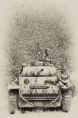 WW2 German Panzer tank — Stock Photo