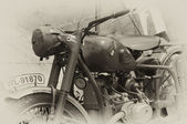 WW2 British military dispatch riders bike — Stock Photo