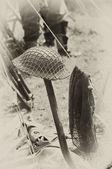 WW2 British army helmet — Stock Photo