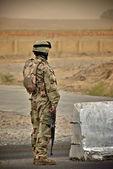 Irak żołnierz — Zdjęcie stockowe