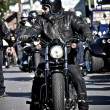 Biker in black — Stock Photo #9062901