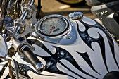 Motorcycle custom fuel tank — Stock Photo